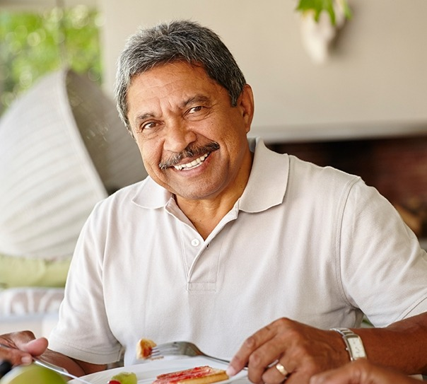 Older man with healthy smile