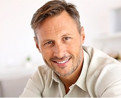 Man with healthy attractive smile
